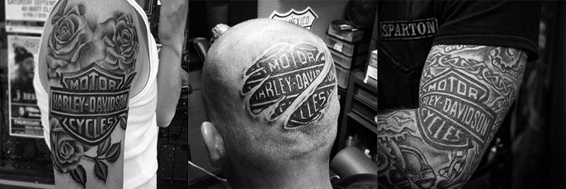 Harley Davidson most tattooed logo in the world