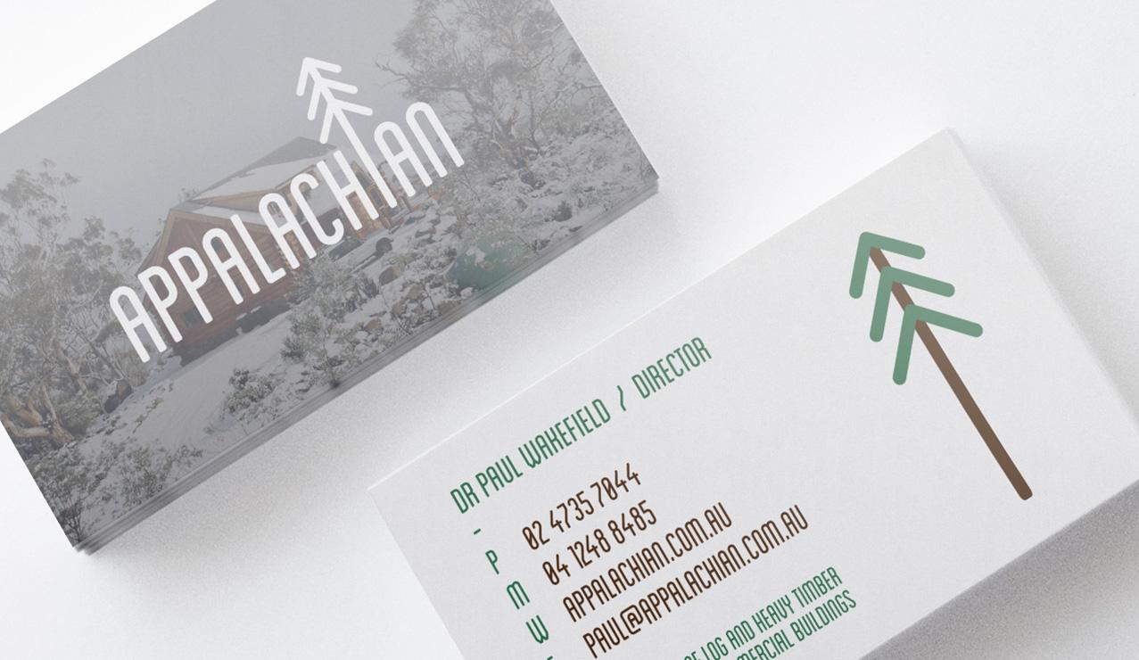 Appalachian rebrand logo design, business cards, website, hosting