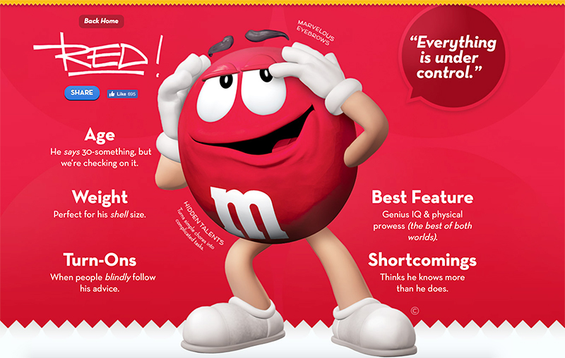 Big Red, the M&M mascot