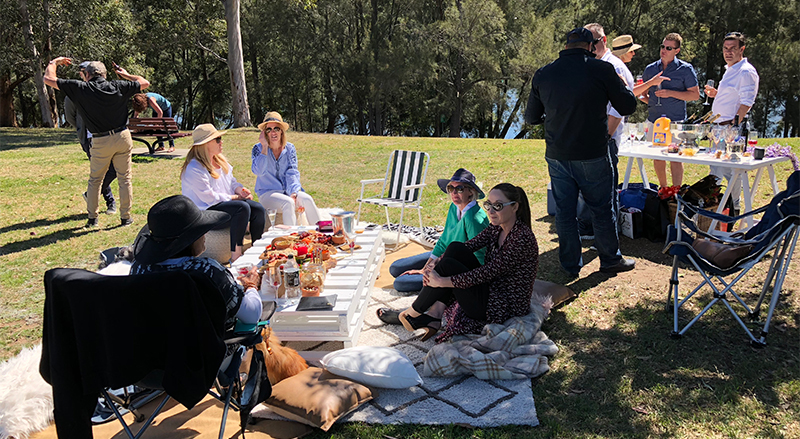 Three Birds One Stone Events Styled picnics Penrith Blue Mountains